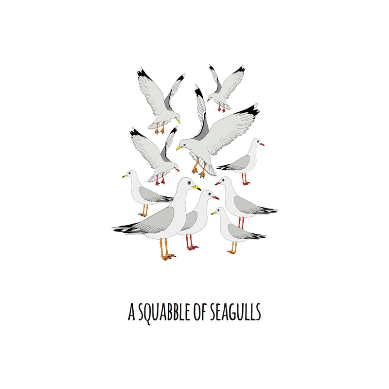 RP - A Squabble of Seagulls Art Print