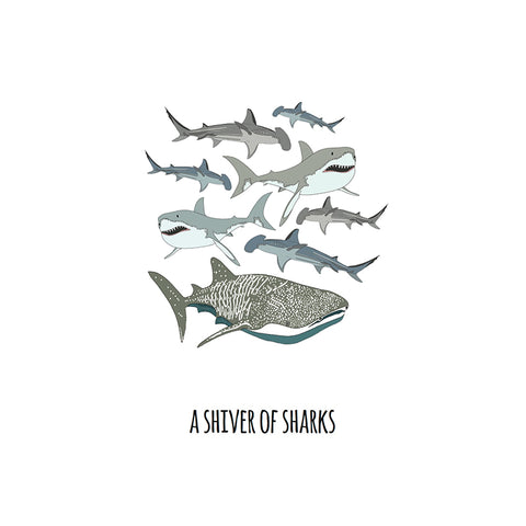 RP - A Shiver of Sharks Art Print