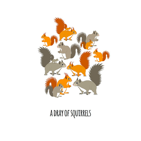 A Dray of Squirrels Art Print