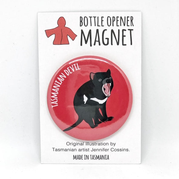Tasmanian Devil Bottle Opener Magnet