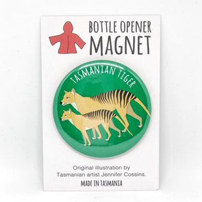 Tasmanian Tiger Bottle Opener Magnet