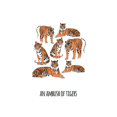 An Ambush of Tigers Art Print