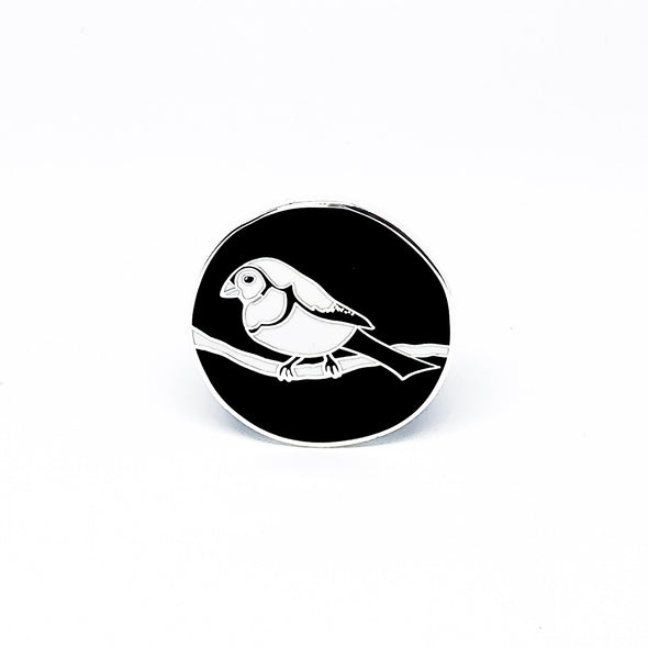 Finch Friend pin