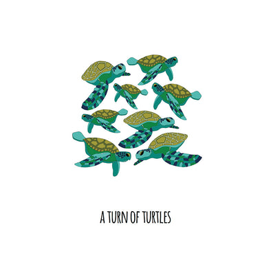 A Turn of Turtles Art Print