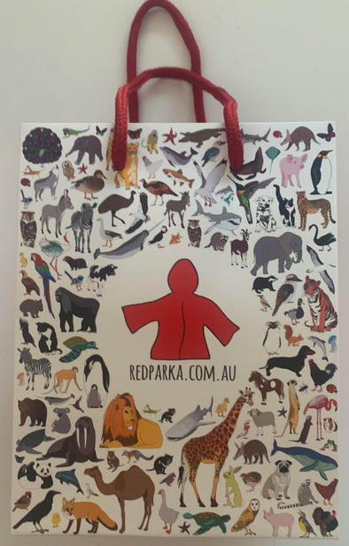 Red Parka Gift Bag