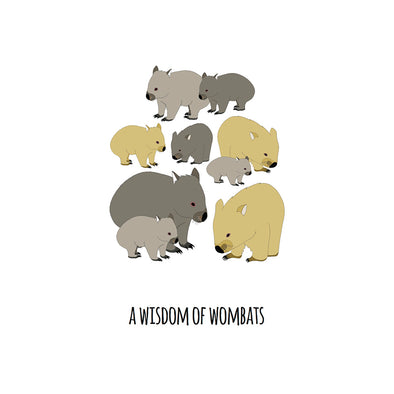 A Wisdom of Wombats Art Print