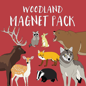 Woodland Animals Magnet Pack