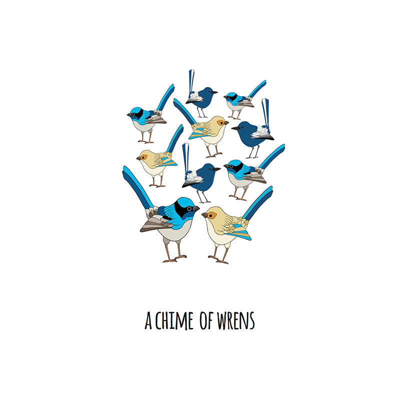 RP - A Chime of Wrens Art Print