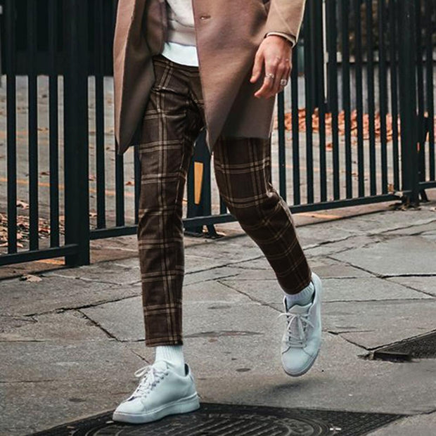 Men's Casual Plaid Trousers