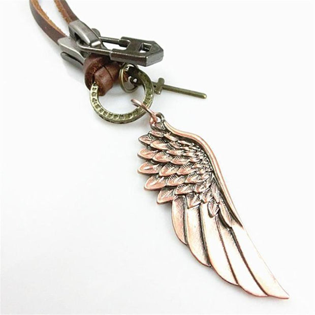 Copper Angel Wing Alloy Necklace