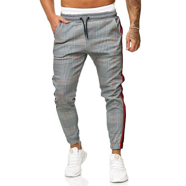 Plaid Printed Casual Trousers