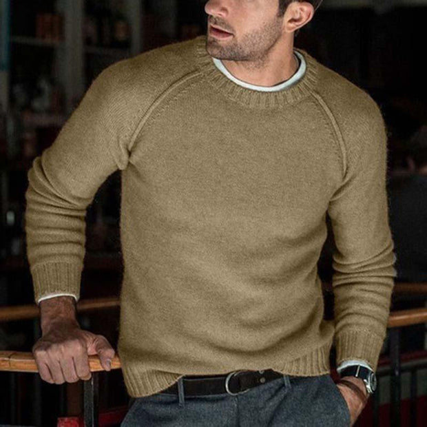 Men's Solid Color Sweater