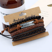 Leather Suit Men's Bracelet