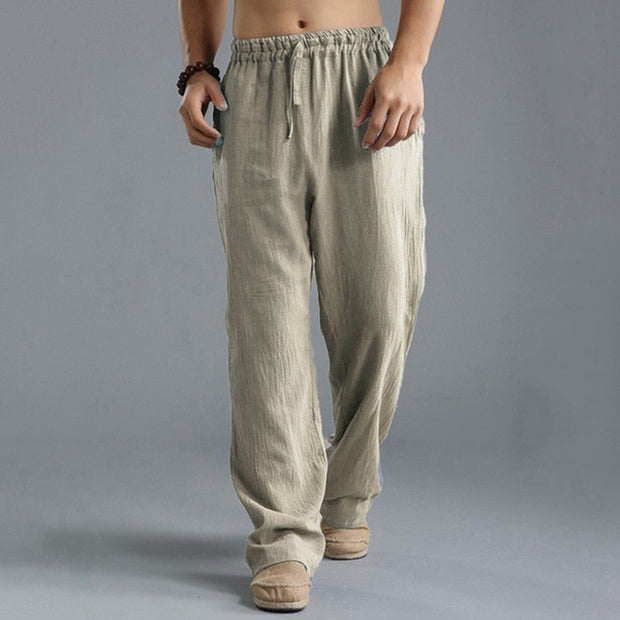 Men's Washed Cotton Loose Pants