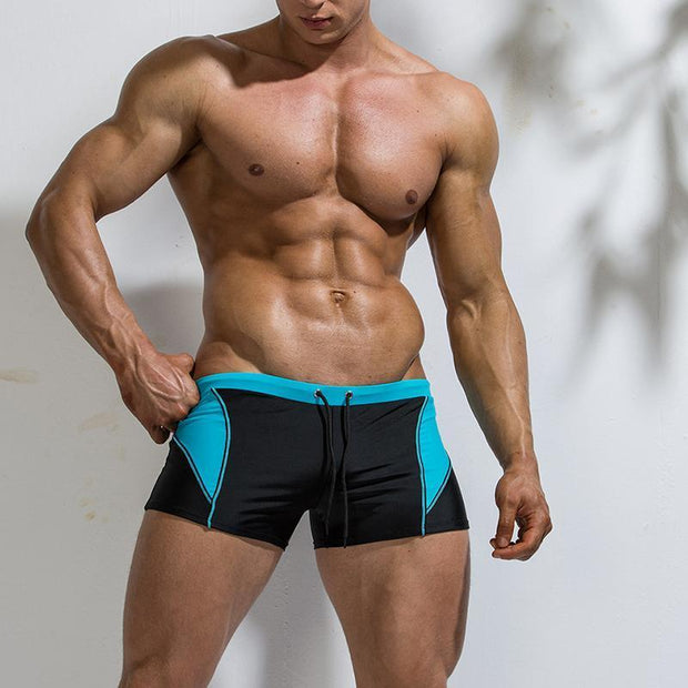 Men's Sports Comfortable Beach Anti-horizontal Swimming Trunks