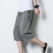 Plaid Loose Men's Casual Track Pants