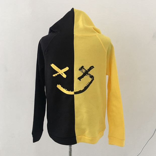 Men's Smiley Print Hoodie