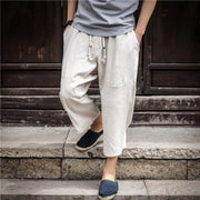 Cotton And Linen Casual Pants Loose Large Size Pants