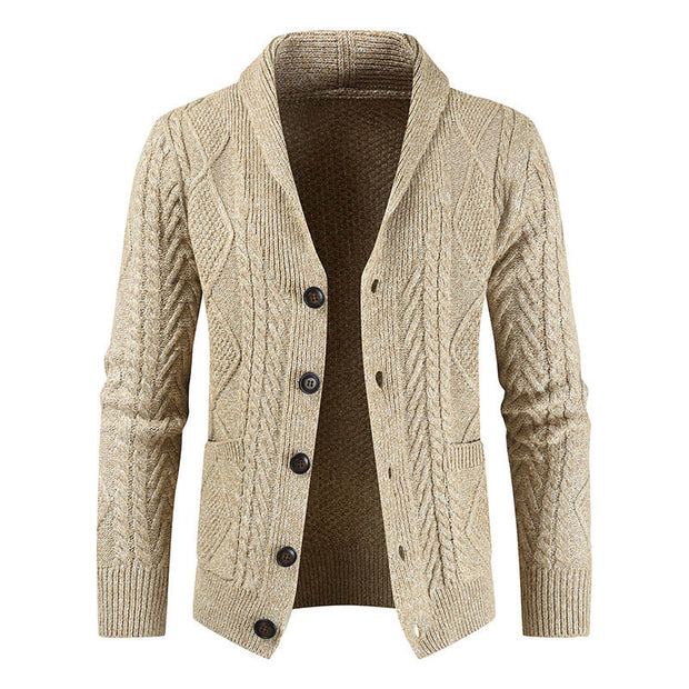Fashion Loose Thick Men's Knitted Jacket