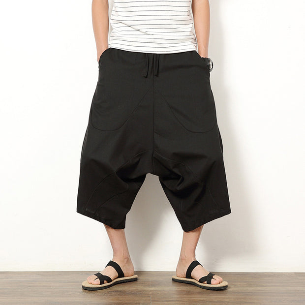 Solid Color Casual Loose Men's Shorts