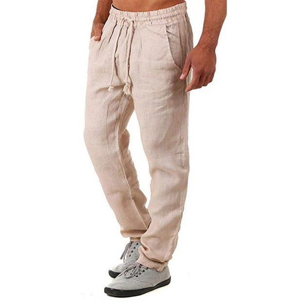 Men's Cotton And Linen Trousers