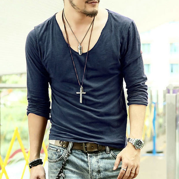 Men's Casual Long-sleeved T-shirt