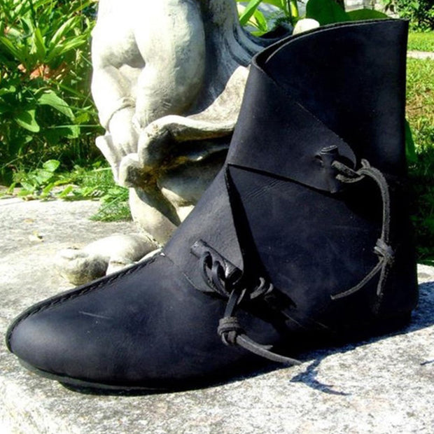 Fashion Round Head Flat Boots