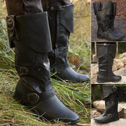 Metal Buckle High Helper Boots