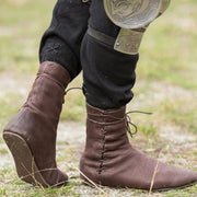 Flat Bottom Cross Strap Low Boot