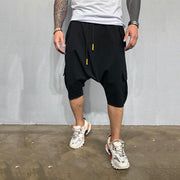 Loose Solid Color Men's Sports And Leisure Cropped Trousers
