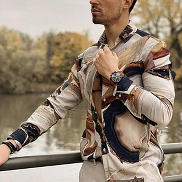 Men's Casual Vacation Printed Shirt
