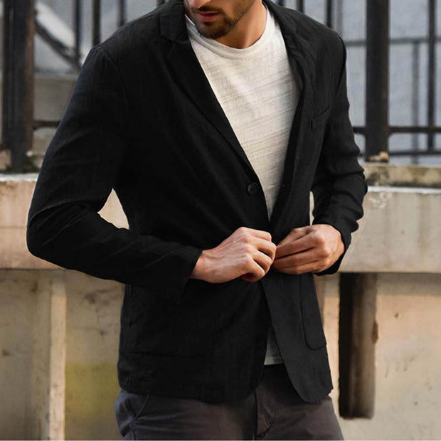 Loose Solid Color Casual Suit Jacket