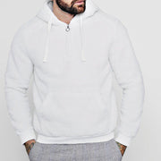 Pure Color Plus Velvet Men's Hoodie