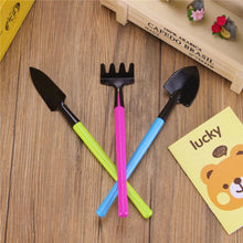 Load image into Gallery viewer, 3PC Color  Mini Gardening Tools Garden Accessories Tools For Home Gardening Meat Growing Tools Small Shovel Spade Tool Decor