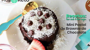 Receta de Mini Pastel de Brownie de Chocolate Sin Gluten y Bajo en Carbohidratos