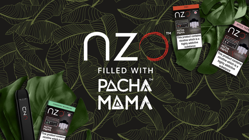 nzo announces collaboration with global vape brand - Pacha Mama