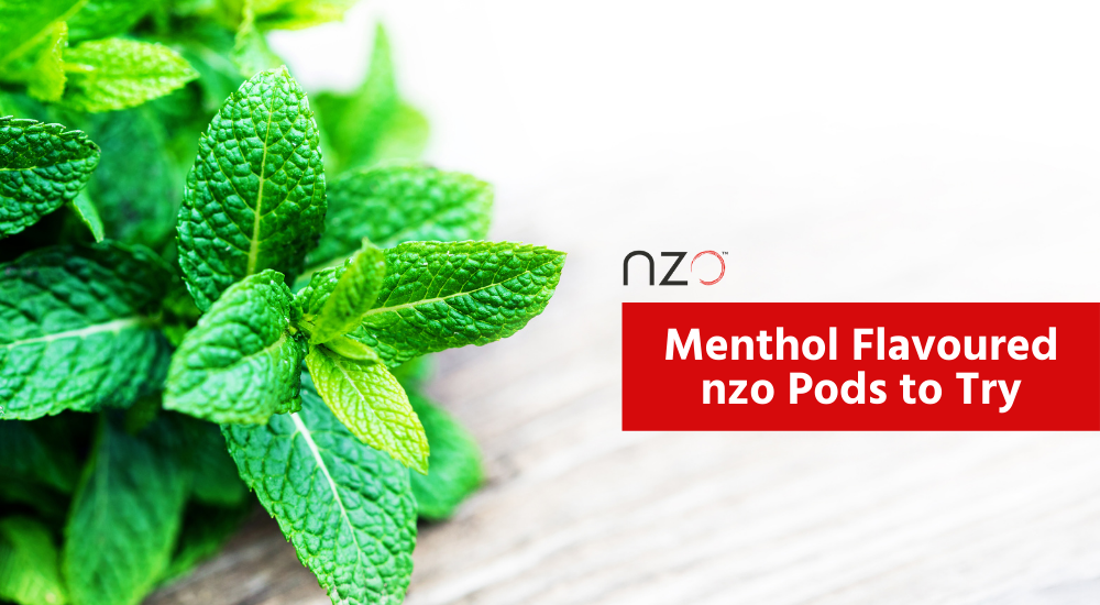 menthol flavoured nzo pods to try