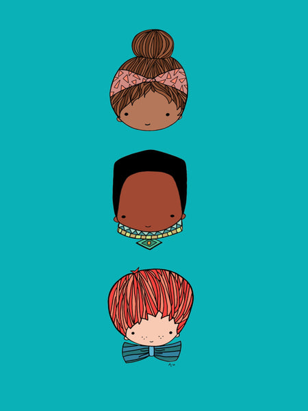 Kids Art Print, Childrens Wall Art, Nursery Room Decor, Bow tie, Boho, Tribal, Small to Large Prints, Multiple Colors