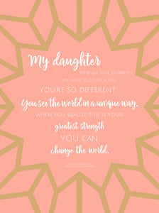 Gift for Daughter from Mother, Gift for Daughter from Mom, Inspirational Daughter Quote, To Daughter from Mom, From Mom to Daughter