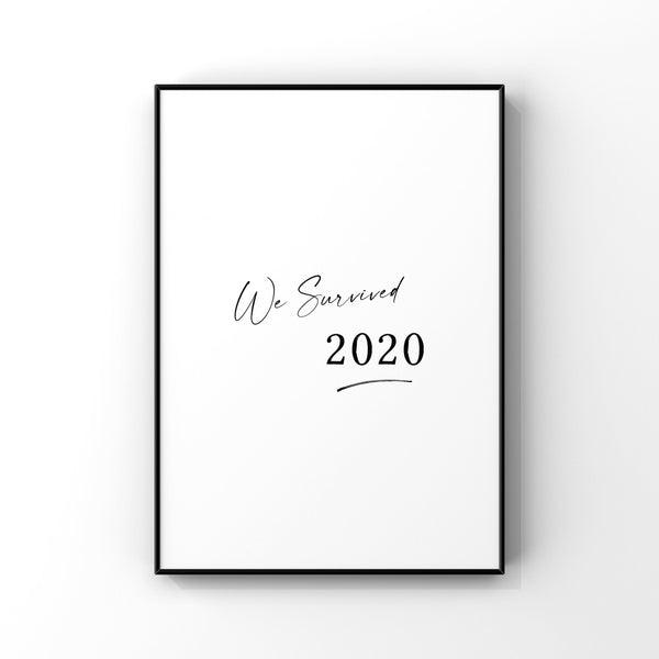 We survived 2020,Quarantine Christmas,Christmas gift,COVID Christmas,Pandemic Gift,2020 Wall Art Print,Stay home,2020 memory