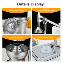 Load image into Gallery viewer, TINTON LIFE Juicer Machine Orange Squeezer Citrus Fruit Press Orange Juicer Manual Juicer Extractor Stainless Steel Dispenser