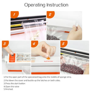 TINTON LIFE Vacuum Food Sealer Vacuum Sealer Bags Vacuum Sealer Cover