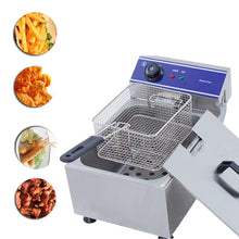 Load image into Gallery viewer, Home Use Electric Deep Fryer Multifunctional Household Commercial Stainless Steel Grill Frying Pan French Fries Machine