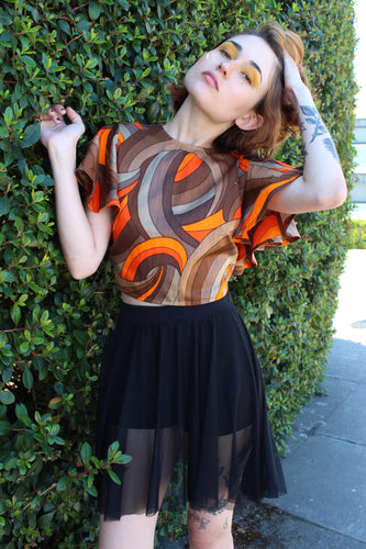 Flutter Sleeve Retro Top (Limited Edition)