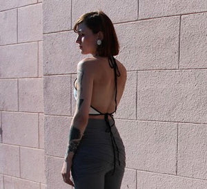 Open Back Halter Top