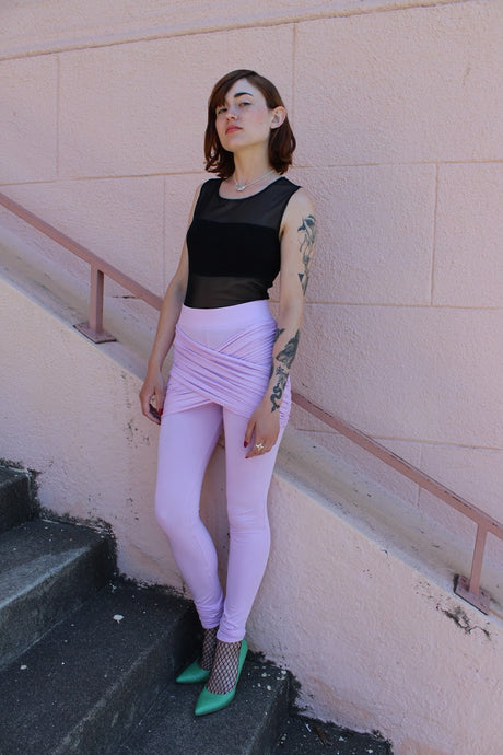 100% of profits donated to breast cancer research, pink, sustainable leggings