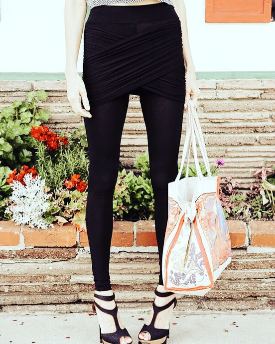 Black Embrace Wrap Legging