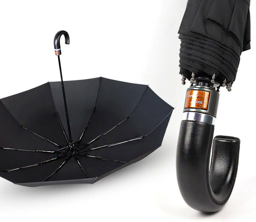 British Leather Handle Umbrella