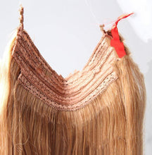 "Load image into Gallery viewer, Bleach Blonde Halo Hair Extensions-16""-120g-Luisant Hair"