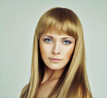 Load image into Gallery viewer, Bleach Blonde Clip-In Bangs-Luisant Hair
